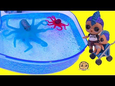 Color Changing Animals At Aquarium ! LOL Surprise Punk Boi Summer Series Part 3