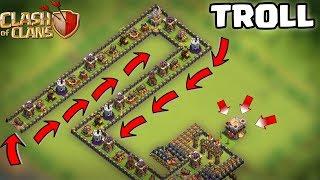 DÜNYANIN EN  ZOR TROLL DÜZENİ (Hiç bir asker geçemedi)!!!  | Clash Of Clans