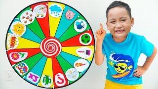 Bona 와 Emma 가 함께 마법의 바퀴를 탐험 | Explore the magic wheel | 어린이를위한 교육용 비디오 모음 | Father Finger Songs