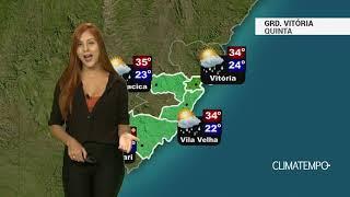 Previsão Grande Vitória - Calor e pancadas de chuva