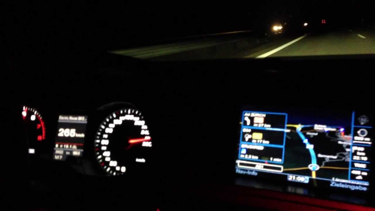 Audi 2.0 T >> Audi A4 B8 Top Speed / 265 KMH - YouTube