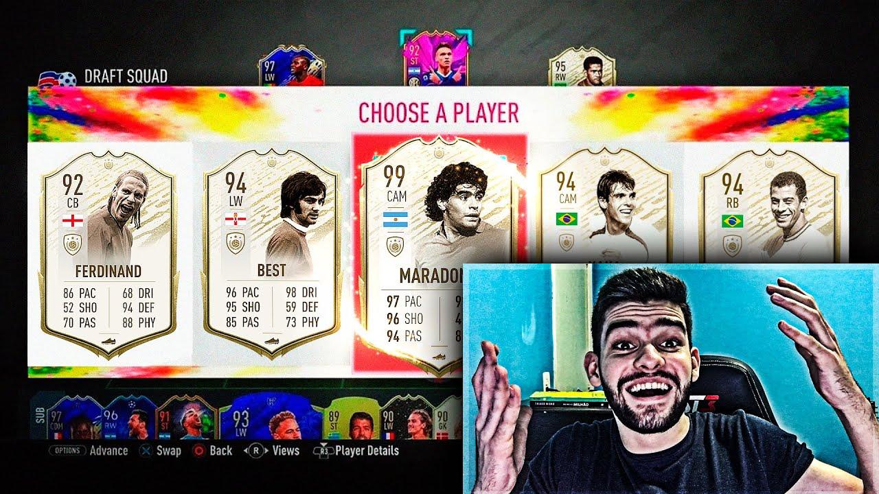 QUE ABSURDO!!! A MELHOR FASE DO FUT DRAFT NO FIFA 20!!!