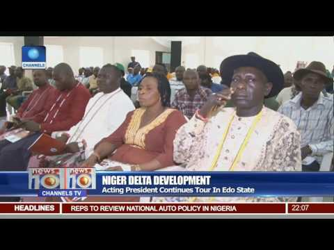 News@10: Acting President Continues Tour In Edo State 06/03/17 Pt 1