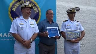 TV Jaguar recebe homenagem da Capitania dos Portos da Marinha que homenageou parceiros de suas ações