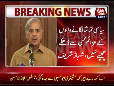 CM Punjab Shahbaz Sharif Criticises Opposition