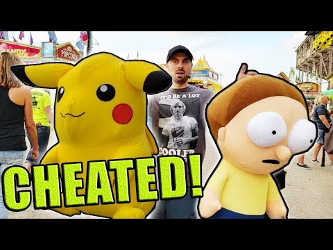 I CHEATED The CARNIVAL!... (Wasn't Supposed To Win These Prizes...) ArcadeJackpotPro