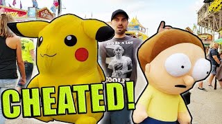 I CHEATED The CARNIVAL!... (Wasn\'t Supposed To Win These Prizes...) ArcadeJackpotPro