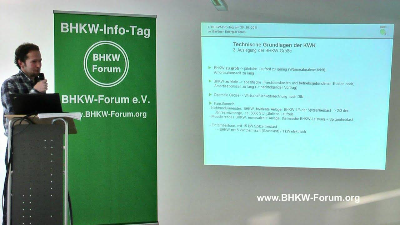 Technische Grundlagen Beim Einsatz Von Bhkw Als Stromerzeugende