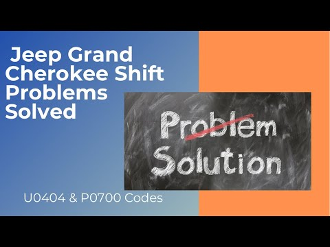 2006 Jeep Grand Cherokee (WK) 3 7 Electronic Shift Module (ESM) Problems  U0404 P0700 Codes