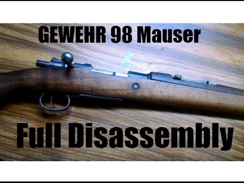 Gew98 Full Disassembly: Turkish Ankara 8mm Mauser Cleaning WW2 War Time Rifle