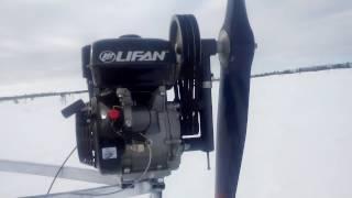 Аэросани Надым 2017 подъем в гору.