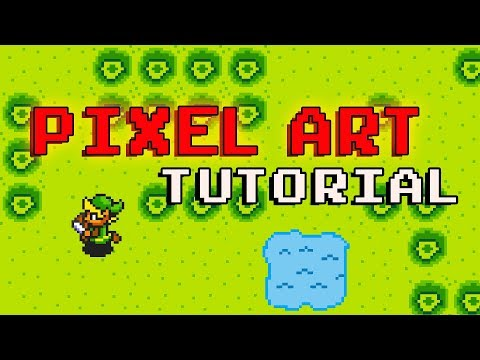 How create Pixel Art For Games - beginner tutorial - 8Bit Graphic Design (pyxel edit) thumbnail