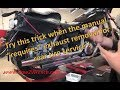 How to remove a rear tire without removing the exhaust system!