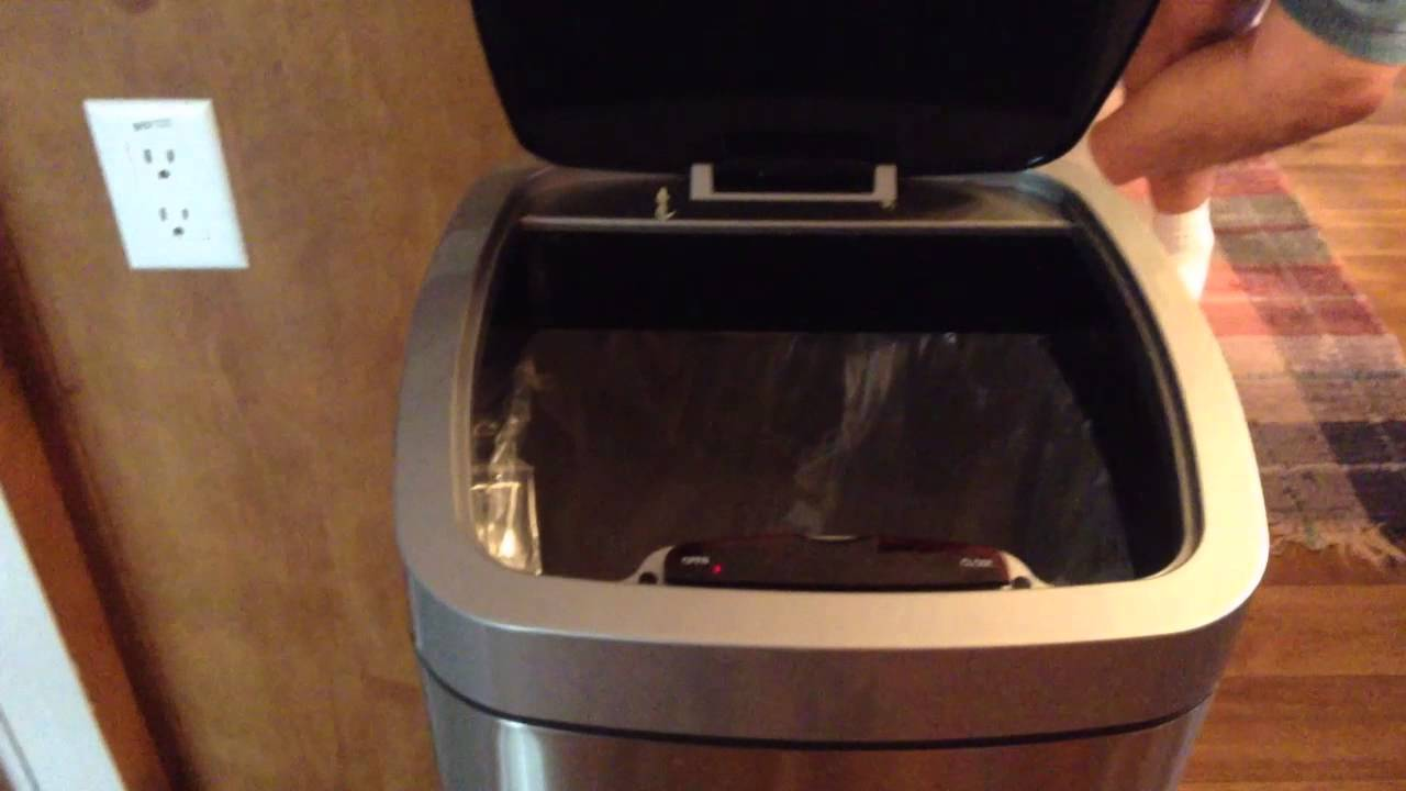 maxresdefault r2 star trash costco touchless motion sensor trash can robot fun HDX Outdoor Trash Can at creativeand.co