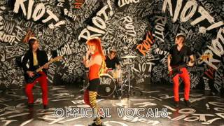 Paramore - Misery Business studio vocal track + rythm guitar