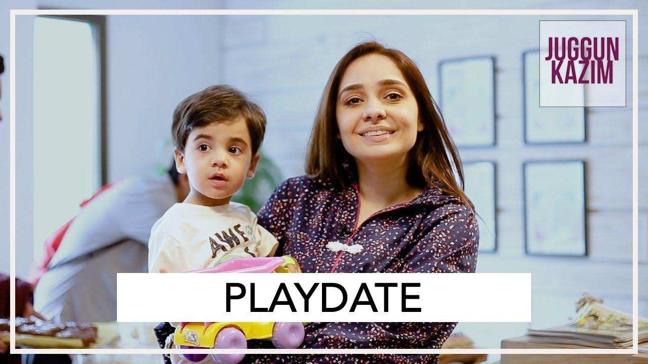 A Playdate With My Baby Hassan | Juggun Kazim | Vlog - YouTube
