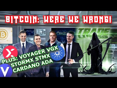 BITCOIN: WHY THIS IS CRITICAL TODAY \u0026 WHAT YOU DON'T KNOW! 🚨 PLUS: Voyager VGX, StormX \u0026 Cardano ADA