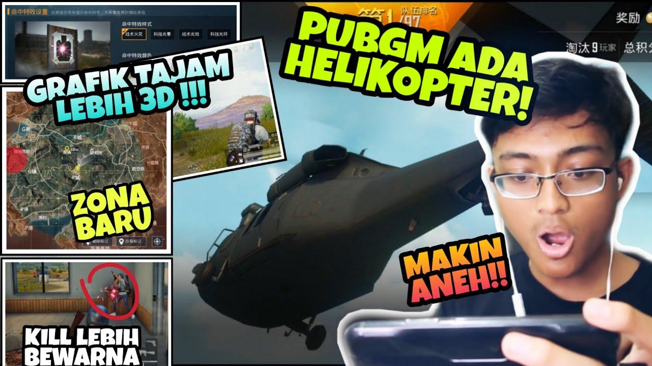 UPDATE BARU PUBGM 1.1.8 - Helikopter, Grafik Baru, Mode Baru, Tampilan Baru 3D, LENGKAP!