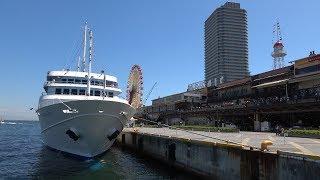 神戸ハーバーランドの旧灯台から中突堤の先端まで4K動画で歩き撮り thumbnail