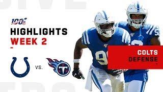 Colts Defense Pressures Mariota w/ 4 Sacks | NFL 2019 Highlights