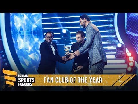 Manjappada Kerala Blasters Fans   Fan Club of the Year   Indian Sports Honours