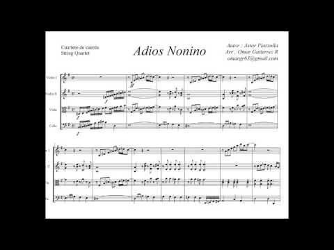 String Quartet - Adios nonino Piazzolla ( Sheet music )