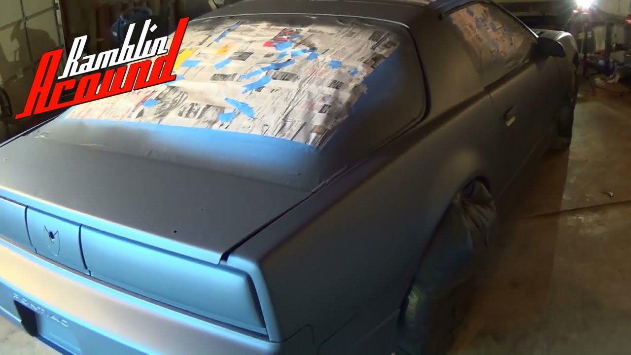 Painting Pontiac Trans Am Gunmetal Gray Plasti Dip Youtube
