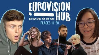 Eurovision Song Contest 2018: Places 11-20   Reaction Video