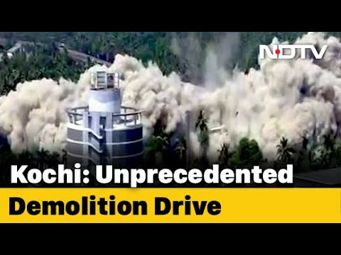 Maradu Flat Demolition: Kochi Luxury Flats Come Crashing Down In Seconds, Demolition On