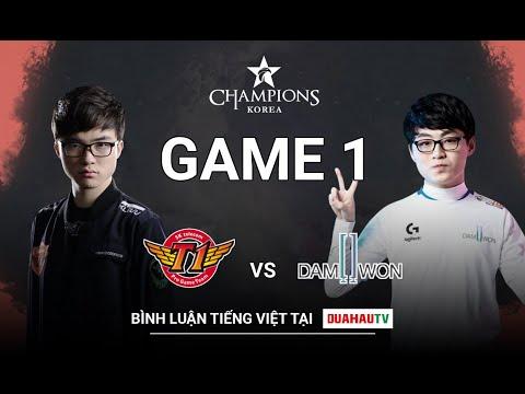 [25-08-2019] Bình Luận Tiếng Việt   Caster Nữ   SKT vs DWG (game 1 )   LCK Mùa Hè (2019)