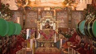 HH Karmapa presides over the Mahakala Tsenma puja - Pre-Losar 2012