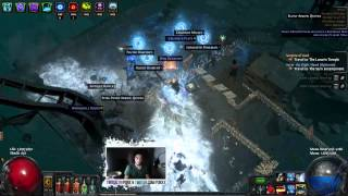 Path Of Exile - Glacial Cascade Updated Character - Level 73 + Map Gameplay