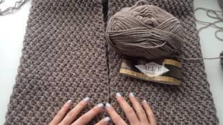 Ещё один процесс вязания. Вяжу пальто!