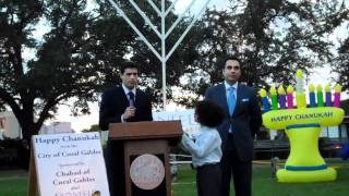 Attorney in Miami: 2010 Coral Gables Menorah Lighting with CBS Gio Benitez