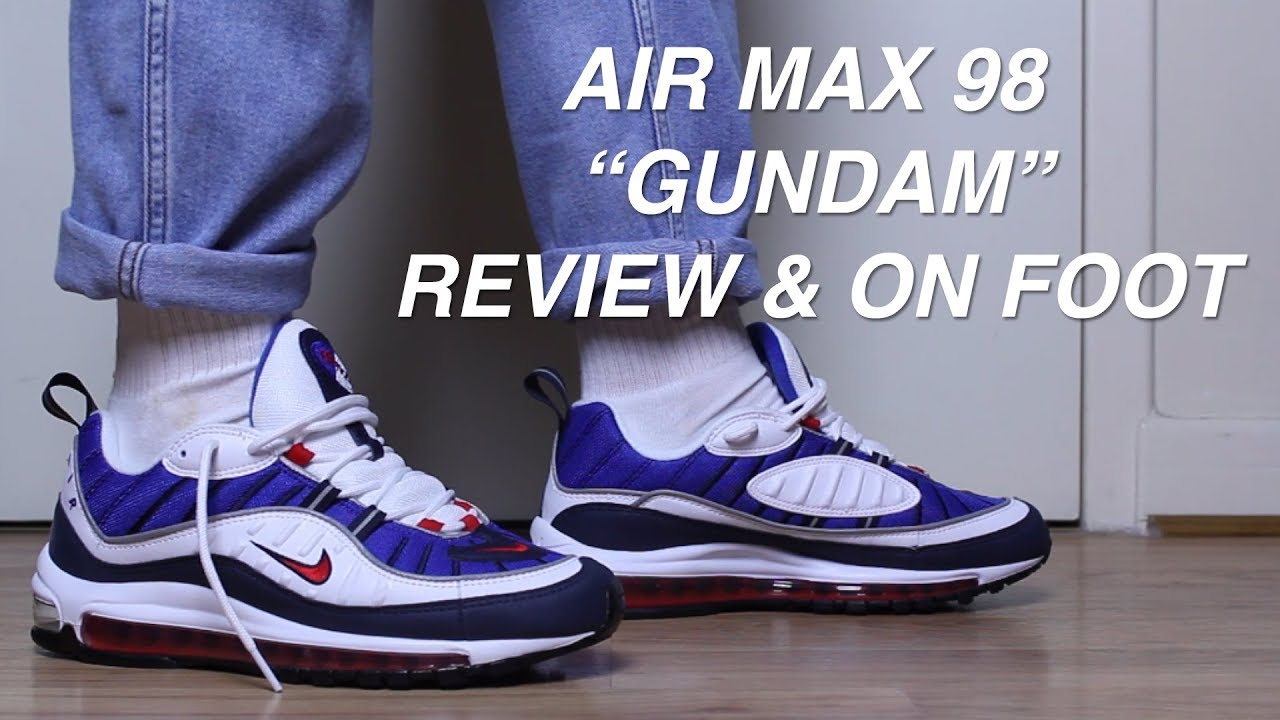 Nike Air Max 98 Gundam Review On Foot Youtube