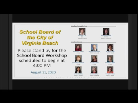 Partial Virginia Beach School Board Info Session Aug. 11, 2020