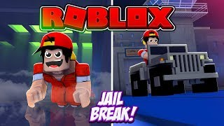 ROBLOX - JAIL BREAK UPDATE, VENT ESCAPE & ARMY JEEP!!