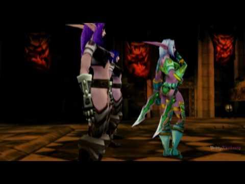 World of Warcraft Machinima Night Elves vs. Blood Elves
