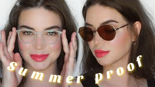 Summer Makeup for glasses | Easy Everyday Glam Tutorial ?