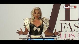 Baixar Lady Gaga Emotional Tearful Speech at The Daily Front Row's 2019 Fashion LA Awards