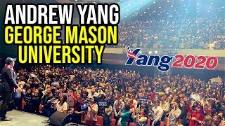 Andrew Yang Virginia Rally at George Mason University | November 4th 2019