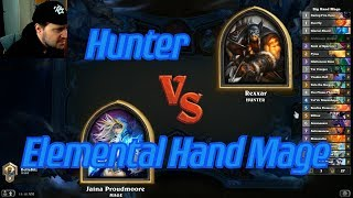 Elemental Hand Mage vs Hunter - Hearthstone