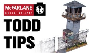Todd Tips - Prison Tower And Gate: Assembling The Tower Roof