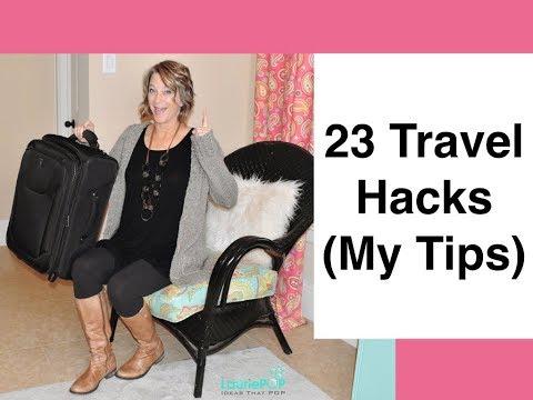 23 Travel Hacks (Packing, Airplane & Hotel)