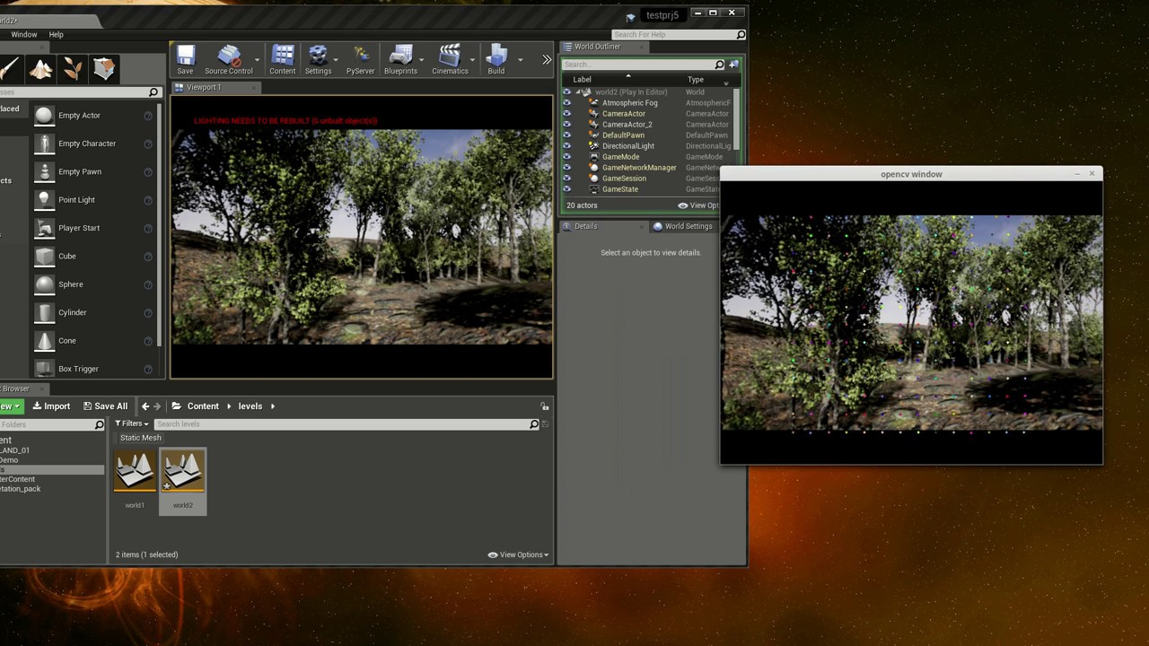 Running Python Plugin project For Unreal Engine 4 (OpenCV Demo)