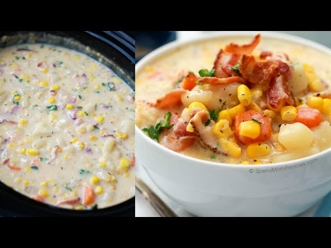 Slow Cooker Bacon Corn Chowder