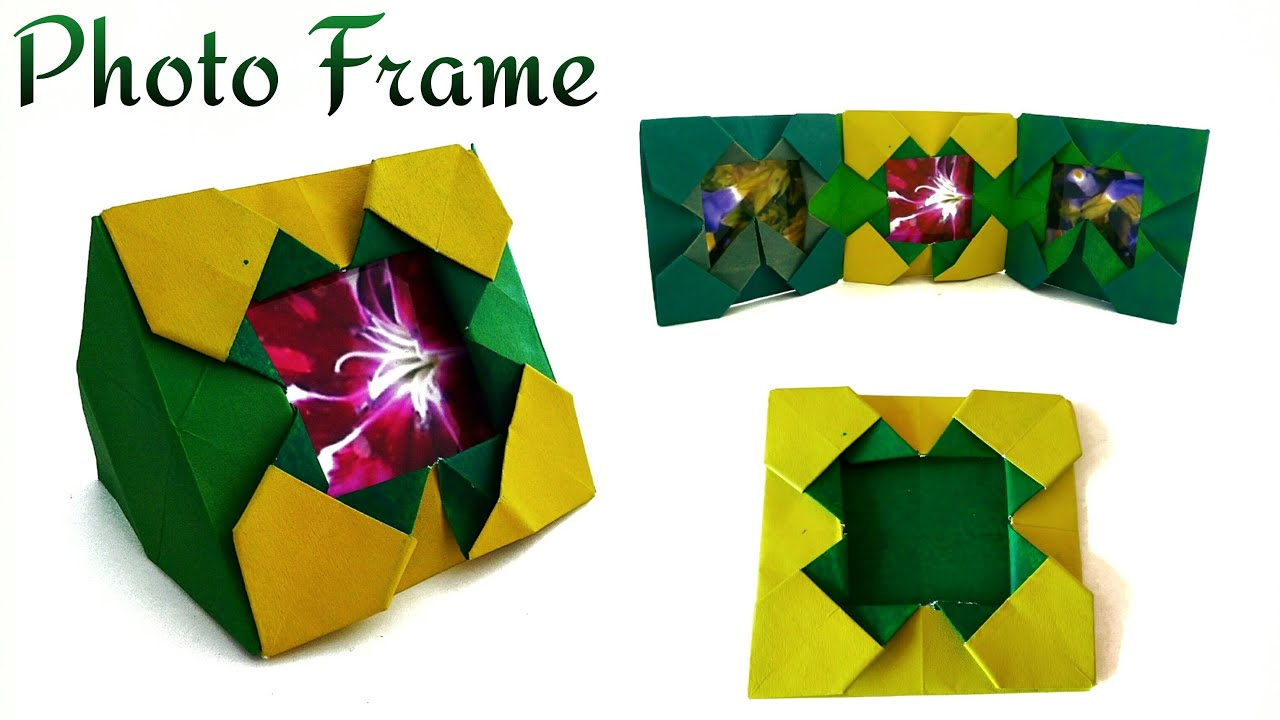 Useful Origami Paper Photopicture Frame Stand Album Youtube