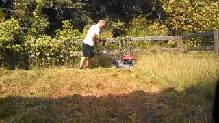 Honda hrb 217 push mower cutting 1 foot tall grass