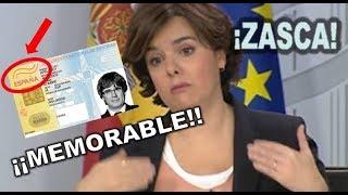 ¡¡SO-RA-YA-ZO!! MEMORABLE ZASCA de SORAYA SAENZ DE SANTAMARIA a los MANIFESTANTES de BRUSELAS