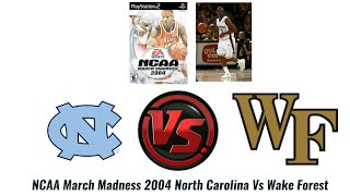 newest f0849 3a26d NCAA March Madness 2004 PlayStation 2 North Carolina Vs Wake Forest Chris  Paul s Freshman Year